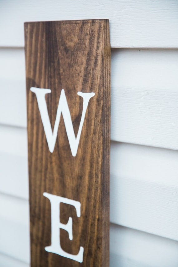 Welcome Sign Outdoor Stand Up Front Porch Decor Real Wood