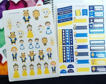 4 pages of beautiful beauty Planner stickers available on vertical and horizontal layouts available in gloss or matte