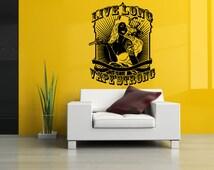 Removable Vinyl Sticker Mural Decal Wall Decor Poster Art Vaporizer Live Long, Vape Strong Cafe Smoke Shop E Cigarettes Liquid Sign SA838