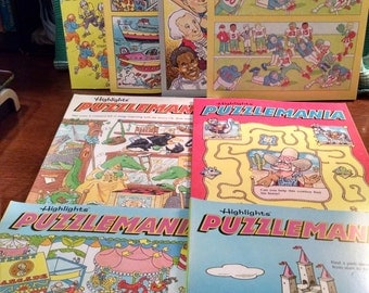 Highlights Puzzlemania Magazine Lot of 8