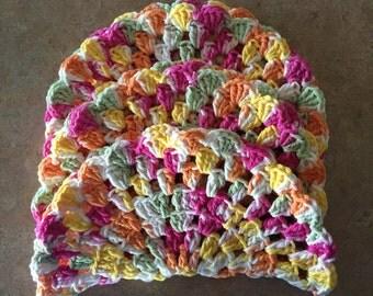 Cotton Dishcloths, Cotton Washcloths, Crocheted Dishcloths, Round Dishcloths, Crocheted Cotton Dishcloths, 100% Cotton Dishcloths