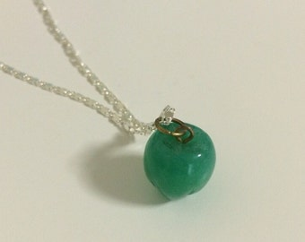Apple Jade Stone Necklace