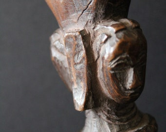 African tribal Sling shot / catapult from Cote d'Ivoire.  Dan Baule tribe. Africanart . Ethniques . Afrique Afrika . Hunting . used