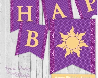 Tangled Birthday Banner / Digital File / Printable Banner