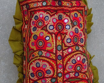 Vintage Banjara Bag, Embroidered Handbag, Gypsy Purse, Kuchi, Hobo Bag, Tribal Bag, Large Tote, Beaded Mirrored BY artisanofrajasthan 29