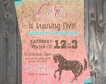 Horse Birthday Invitation