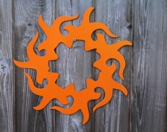 Tribal Sun Sign (Steel)