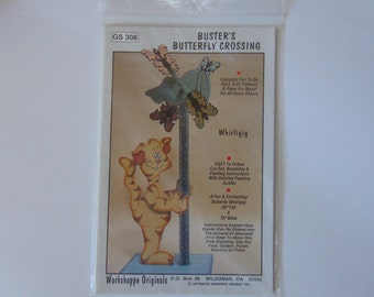 Buster's Butterfly Crossing Whirligig Wood Craft Pattern GS 308
