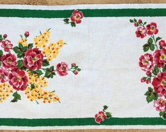 Tea Towel with Bright Flowers