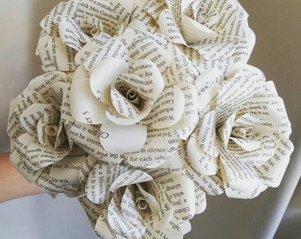Pride and Prejudice Book Bouquets-Book lover gift-Book Bouquet-Book decor- Unique Gift- Bridal Bouquet- Paper Roses-Wedding