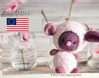 lucky floffy amigurumi - ENGLISH PDF digital crochet pattern