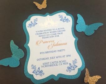 Princess butterfly invitation