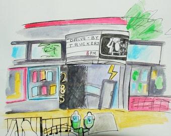 40 Watt Club Watercolor
