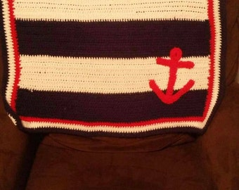 Nautical baby blanket