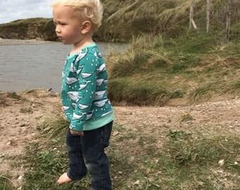 Prince of Whales Organic Cotton Long SleeveWaistband Tee / Sweater / Sweatshirt