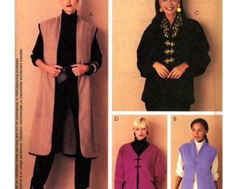 2002 McCall's 3753 Nancy Zieman Unlined Vests and Jackets with or without Sleeves, Uncut, Factory Folded, Sewing Pattern Size All Sizes