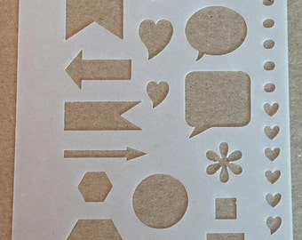 Planner Stencil Perfect for Personal Size Planners