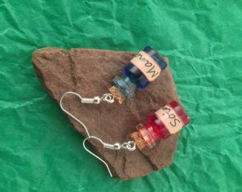 Potion of care and mana potion earrings