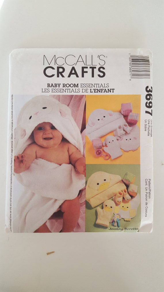McCall's Crafts 3697 Baby Room Essentials Baby Hooded