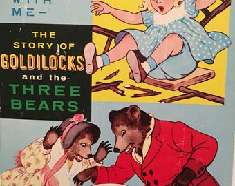 Vintage See and Say Storybook, The Story of Golddilocks and the Three Bears, Made in Japan