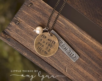 Scripture Necklace - Bible Verse Customize Metal Stamp
