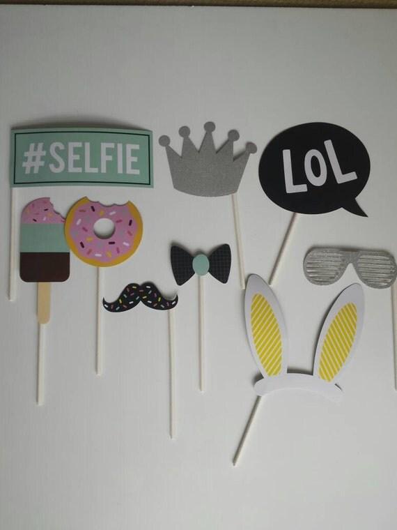 9 piece selfie photo booth sticks. Black Bedroom Furniture Sets. Home Design Ideas