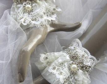 Bridal  Lace Cuff / Wedding Cuff, Wedding gloves,Rhinestones Lace Bridal Jewelry,  ,Cuff Bracelet, Bridal Cuff Bracelet, Bridal pearl Cuff,
