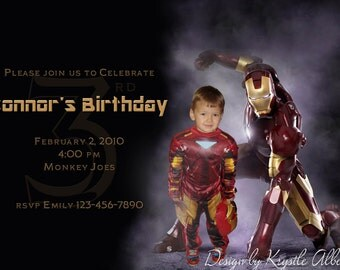 Iron Man Birthday Invitation