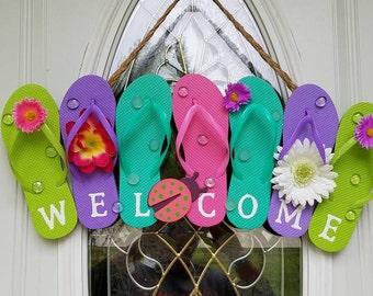 Welcome Flip Flop Sign