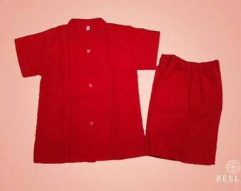 Shirt and short for child with hand embroidered - 2