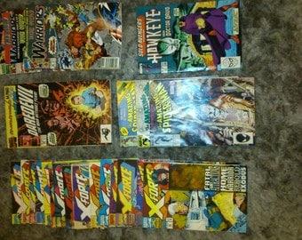 Job lot of Vintage Comic books. X-Force/Spiderman/Daredevil/Avengers/Warriors. 25 Comics.