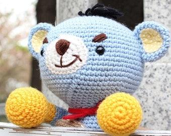 Amigurumi Pattern, Crochet Pattern ,Handmade, PDF, Digital file, Doll, Crochet, PDF Pattern, Bear, Animal, Character, Rocky Bear