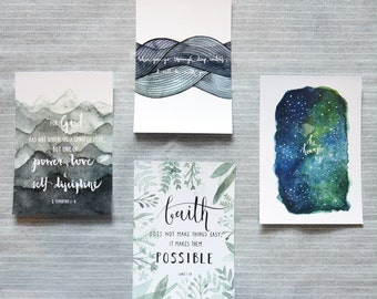 FAITH SERIES - Christian Inspirational Postcard