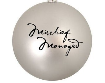3 Mischief Managed Christmas Ornaments