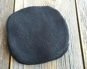BLACK 100% Cotton Flannel Reusable Facial Rounds