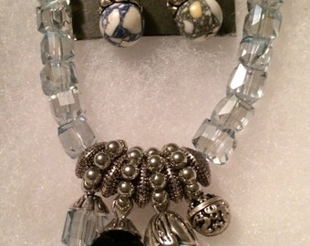 Charms Crystal Necklace Set