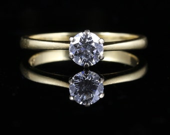 Diamond Solitaire Ring 0.70ct Vs1 H Colour