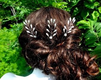 Hair pin,Wedding Hair Pins,Hair Pins,Hair accessory,Bridal hair accessory,Wedding hair accessory,Set of 3