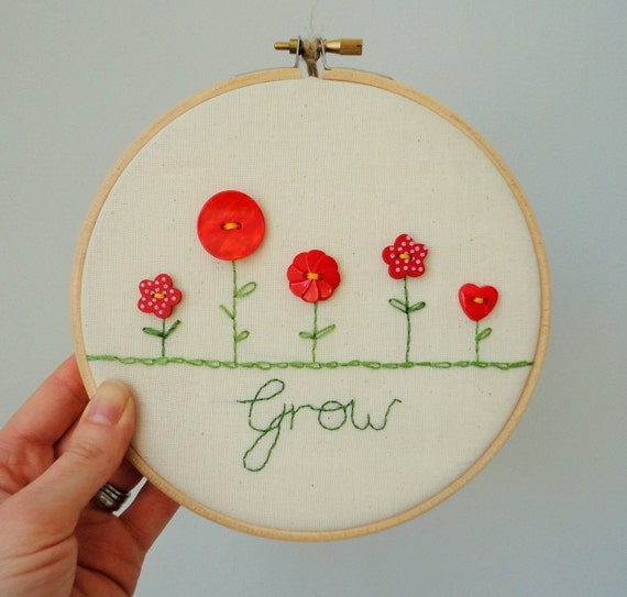 Embroidery hoop decoration gift for