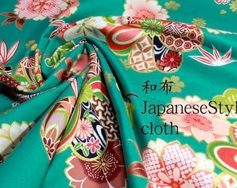 Japanese-style cloth cotton 100cmx110cm Green