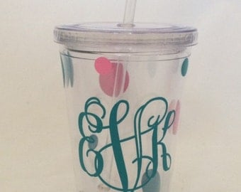 Personalized tumbler straw cup- 16 oz.