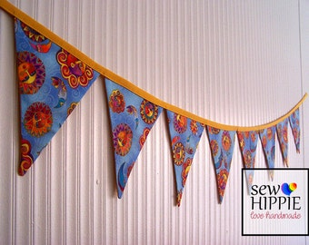 Fabric Flag Bunting Celestial Dreams Party Market Stall Decor