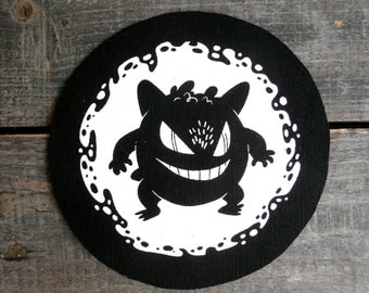 Gengar Sew On Canvas Patch
