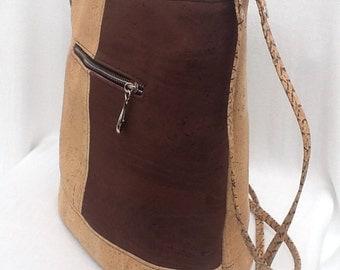 Handcrafted cork handbag