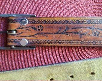 Vintage/Boho Leather Belt