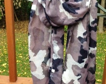 Camoflauge Scarf, Oversized Lightweight Soft Cotton Scarf