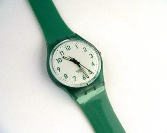1994 Swatch Watch Green GG139