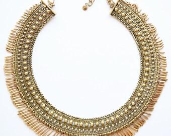 Wedding Necklace, Bridal Necklace, Boho Wedding Necklace - Egyptian Inspired