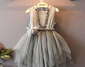 Gray Tulle Dress