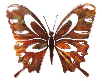 Next Innovations 14 by 12-Inch Patina Butterfly Refraxions 3D Wall Art, Small